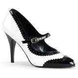 Black White 10,5 cm VANITY-442 Pumps with low heels