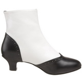 Black White 5 cm FLORA-1023 Ankle Calf Boots Women