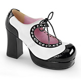 Black White 9,5 cm Demonia GOTHIKA-10 Platform Pumps