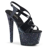 Black glitter 18 cm Pleaser SKY-330LG Pole dancing high heels shoes