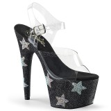 Black rhinestones 18 cm ADORE-708STAR Pole dancing high heels shoes