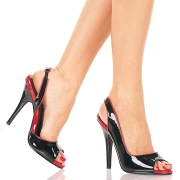 Black slingback 13 cm SEDUCE-117 high heels slingbacks shoes