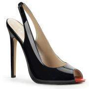 Black slingback 13 cm SEXY-08 high heels slingbacks shoes