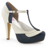 Blue 11,5 cm BETTIE-29 Pinup pumps with hidden platform
