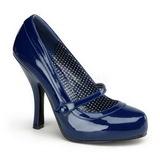 Blue Varnished 12 cm CUTIEPIE-02 Women Pumps Shoes Flat Heels