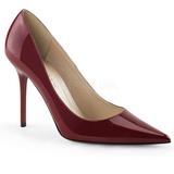 Bordeaux Lak 10 cm CLASSIQUE-20 store størrelser stilettos sko