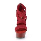 Bordeaux elastisk bånd 15 cm DELIGHT-669 pleaser sko med høj hæl