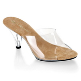 Brown Transparent 8 cm BELLE-301 Women Mules Shoes