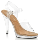 Brun 11,5 cm FLAIR-408 højhælede sko til mænd