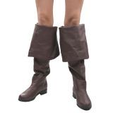 Brun Kunstlæder 4 cm MAVERICK-2045 Lårlange Støvler til Mænd
