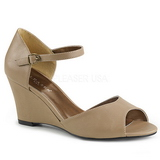 Brun Kunstlæder 7,5 cm KIMBERLY-05 store størrelser sandaler dame