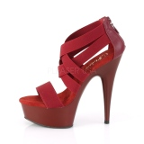 Burgundy elasticated band 15 cm DELIGHT-669 pleaser womens shoes