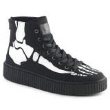 Canvas 4 cm SNEEKER-252 Mens sneakers creepers shoes