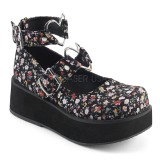Canvas 6 cm SPRITE-02 lolita shoes gothic platform shoes