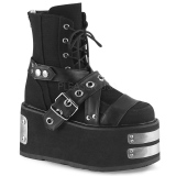 Canvas 9 cm DAMNED-116 demonia ankle boots platform