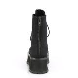 Canvas GRAVEDIGGER-10 ankelstøvler med stål tå-kappe - demonia militærstøvler