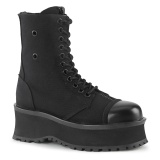 Canvas GRAVEDIGGER-10 demonia ankle boots - steel toe combat boots
