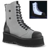 Canvas GRAVEDIGGER-102 ankelstøvler med stål tå-kappe - demonia militærstøvler
