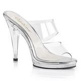 Clear 12 cm FLAIR-402 womens mules shoes