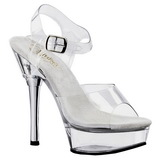 Complete Transparent 14 cm ALLURE-608 Platform High Heels Shoes