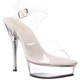 Complete Transparent 14 cm ALLURE-608 Platform High Heels Shoes