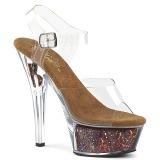 Copper 15 cm KISS-208GF glitter platform sandals shoes