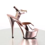 Copper 15 cm KISS-209 Platform High Heels Shoes
