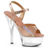 Copper 15 cm KISS-209BHG Platform High Heels Shoes