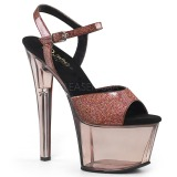 Copper 18 cm SKY-309GPT glitter platform sandals shoes