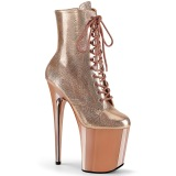 Copper Patent 20 cm FLAMINGO-1020 Pole dancing ankle boots