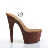 Copper glitter 18 cm Pleaser ADORE-708LG Pole dancing high heels shoes