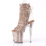 Copper glitter 20 cm FLAMINGO-1018G Pole dancing ankle boots