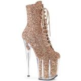 Copper glitter 20 cm FLAMINGO-1020G Pole dancing ankle boots