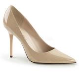 Cream Varnished 10 cm CLASSIQUE-20 Women Pumps Shoes Stiletto Heels