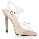 Creme 11,5 cm FABULICIOUS GALA-08 Fest sandaletter med høje hæl
