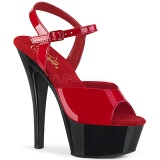 Dual Colored 15 cm KISS-209 Platform High Heels Shoes