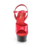 Dual Colored 15 cm KISS-209 Platform High Heels Shoes