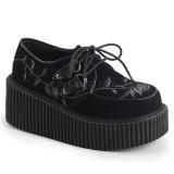 Fløjl 7,5 cm CREEPER-219 dame creepers sko tykke såler