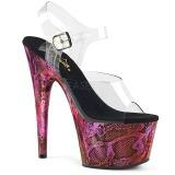 Fuchsia 18 cm ADORE-708SP Hologram platform high heels shoes
