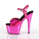 Fuchsia 18 cm ADORE-709HGCH Hologram plateau high heels sko