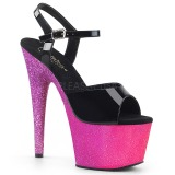 Fuchsia 18 cm ADORE-709OMBRE glitter plateau sandaler sko