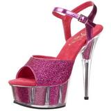 Fuchsia Glitter 15 cm DELIGHT-609-5G High Heel Platform