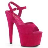 Fuchsia Kunstlæder 18 cm ADORE-709FS højhælede sandaler til kvinder