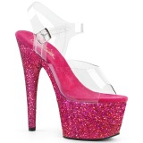 Fuchsia glitter 18 cm Pleaser ADORE-708LG Pole dancing high heels shoes