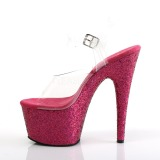 Fuchsia glitter 18 cm Pleaser ADORE-708LG Pole dancing high heels shoes