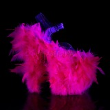 Fuchsia marabou fjer 20 cm FLAMINGO-808F poledance sko