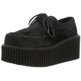 Fur 7,5 cm CREEPER-202 creepers shoes women gothic platform shoes