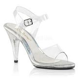 Gennemsigtig 10 cm CARESS-408MG Fest sandaletter med høje hæl