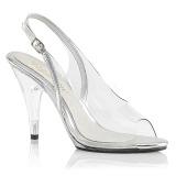 Gennemsigtig 10 cm CARESS-450 Fest sandaletter med høje hæl