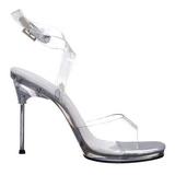 Gennemsigtig 11,5 cm CHIC-06 Sandaler med Stiletter Hæle